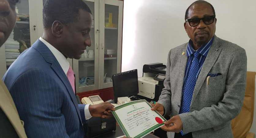 Uche Ogah receives INEC Certificate Of Return as New Governor Of Abia State [updated]