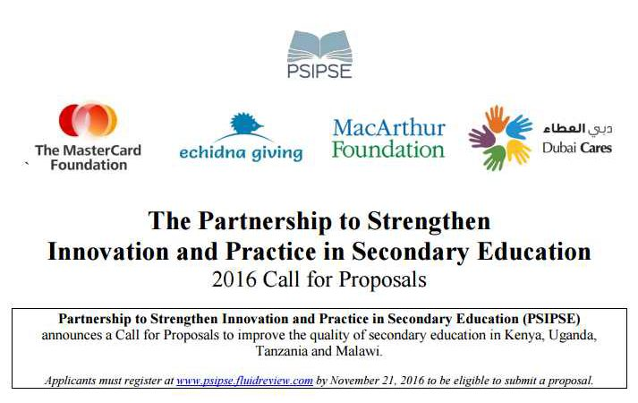 The PSIPSE Seeks to Grow its $50 Million Secondary Education Investment in Developing Countries