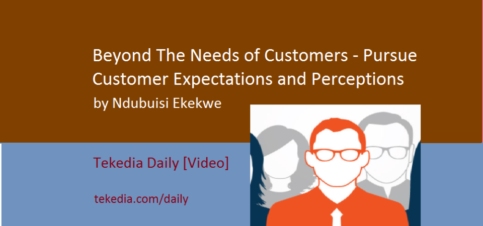 Beyond The Needs Of Customers – Pursue Customer Expectations and Perceptions [Video]