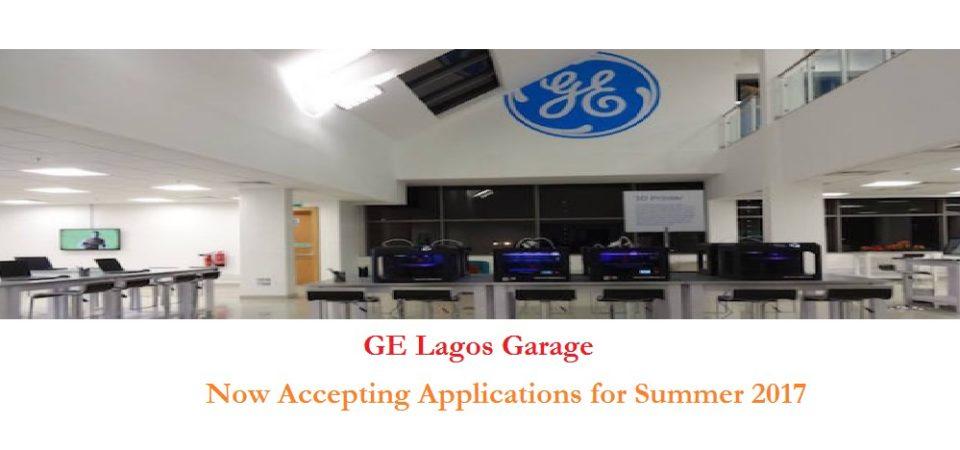 GE Lagos Garage Accepting 2017 Summer Applications