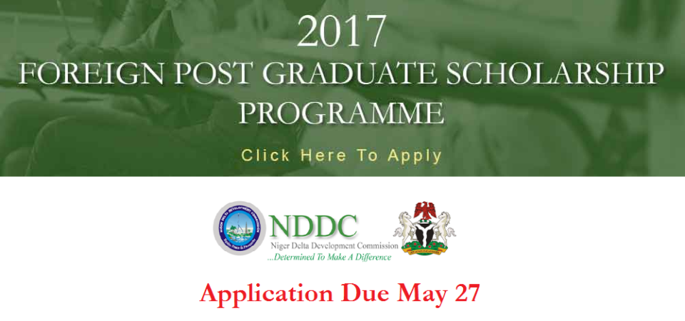NDDC Unveils Massive Foreign PhD and Master's Scholarships In Nigeria; Apply By May 27th
