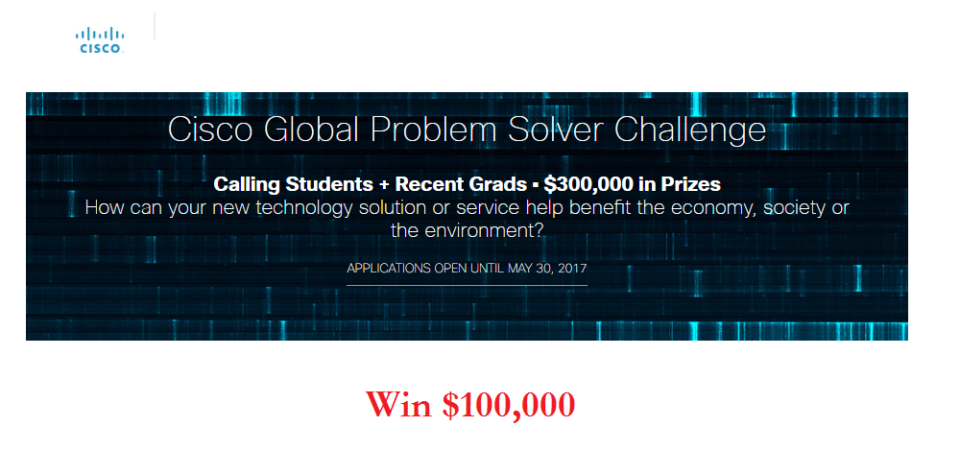 Win $100,000 From Cisco On Digitization and the Internet of Things (IoT)