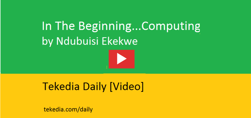 In The Beginning…Computing [Video]
