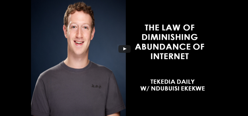 The Law Of Diminishing Abundance Of Internet (Higher User Growth Uncorrelated With Revenue)