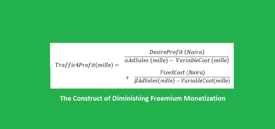 The Construct of Diminishing Freemium Monetization