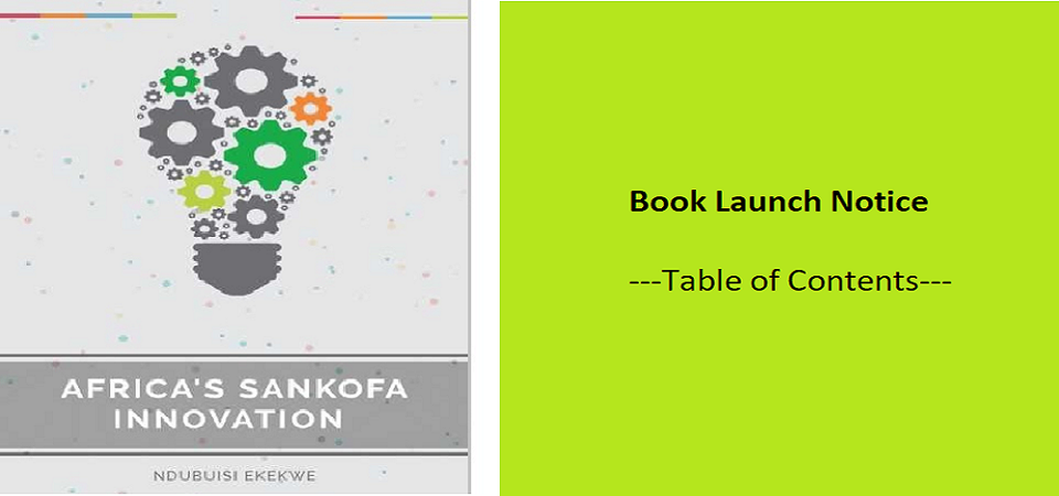 Book Launch Notice – Table of Contents