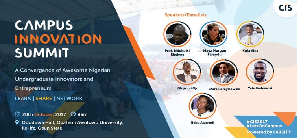 I Will Speak Tomorrow at Obafemi Awolowo University's Campus Innovation Summit