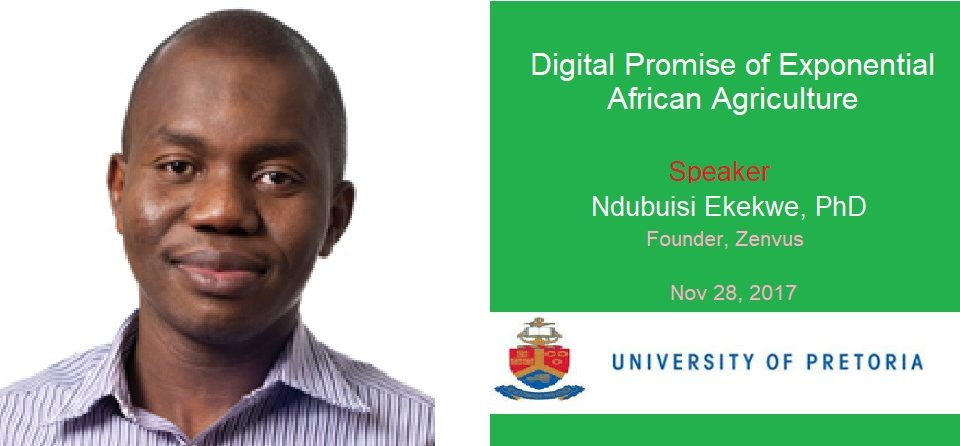 "My German Govt-Funded Talk in South Africa ""Digital Promise of Exponential African Agriculture"""