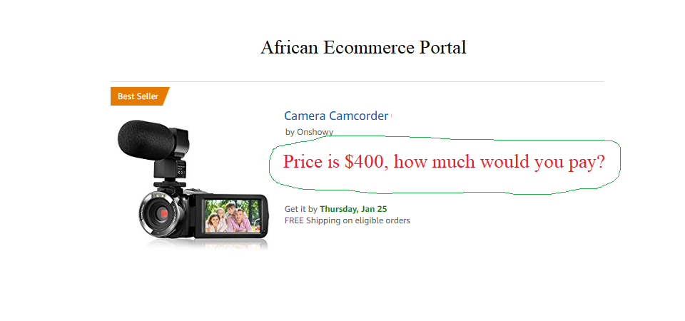 Ecommerce Design Template, Mimicking How Africans Shop