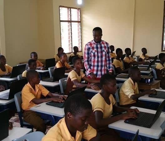 New Classroom of the Ghana's Teacher Who Drew Microsoft Word on Blackboard