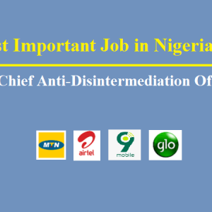 The Most Important Job in Nigerian Telecom Sector: Chief Anti-Disintermediation Officer