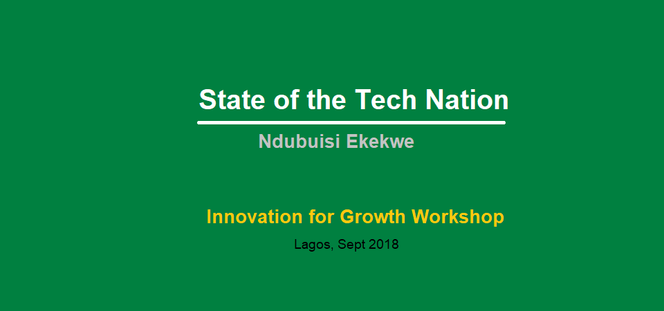 State of the Tech Nation – an Address by Ndubuisi Ekekwe