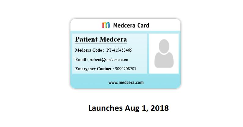 Medcera Patient Card