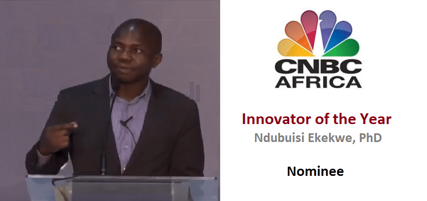 """CNBC Africa Nominates Ndubuisi Ekekwe for """"Innovator of the Year"""" Award"""