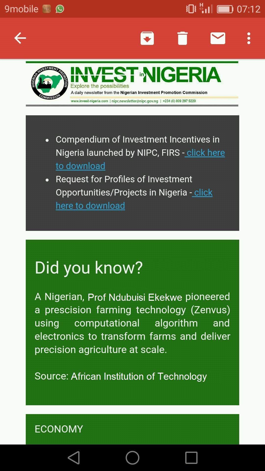 Zenvus - Invest in Nigeria NIPC