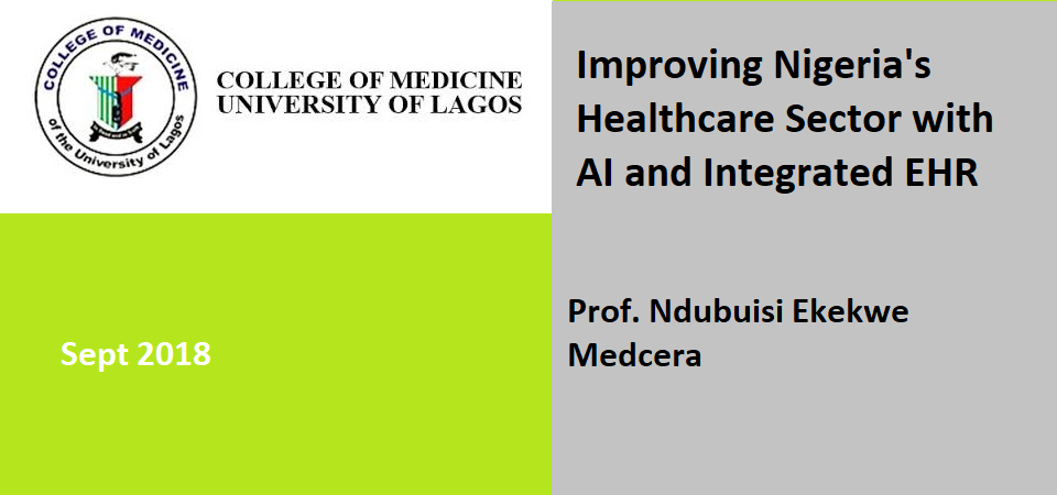 Speaking in College of Medicine, University of Lagos, Next Month