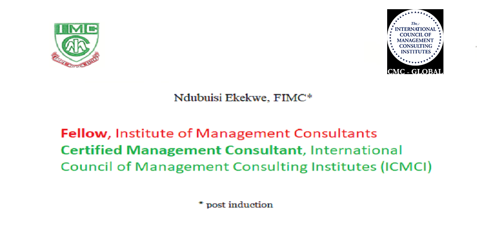 Ndubuisi Ekekwe nominated for Institute of Management Consultants' Fellowship