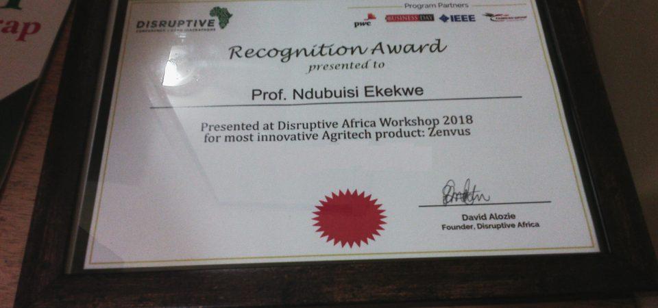 Zenvus Receives Disruptive Africa Recognition
