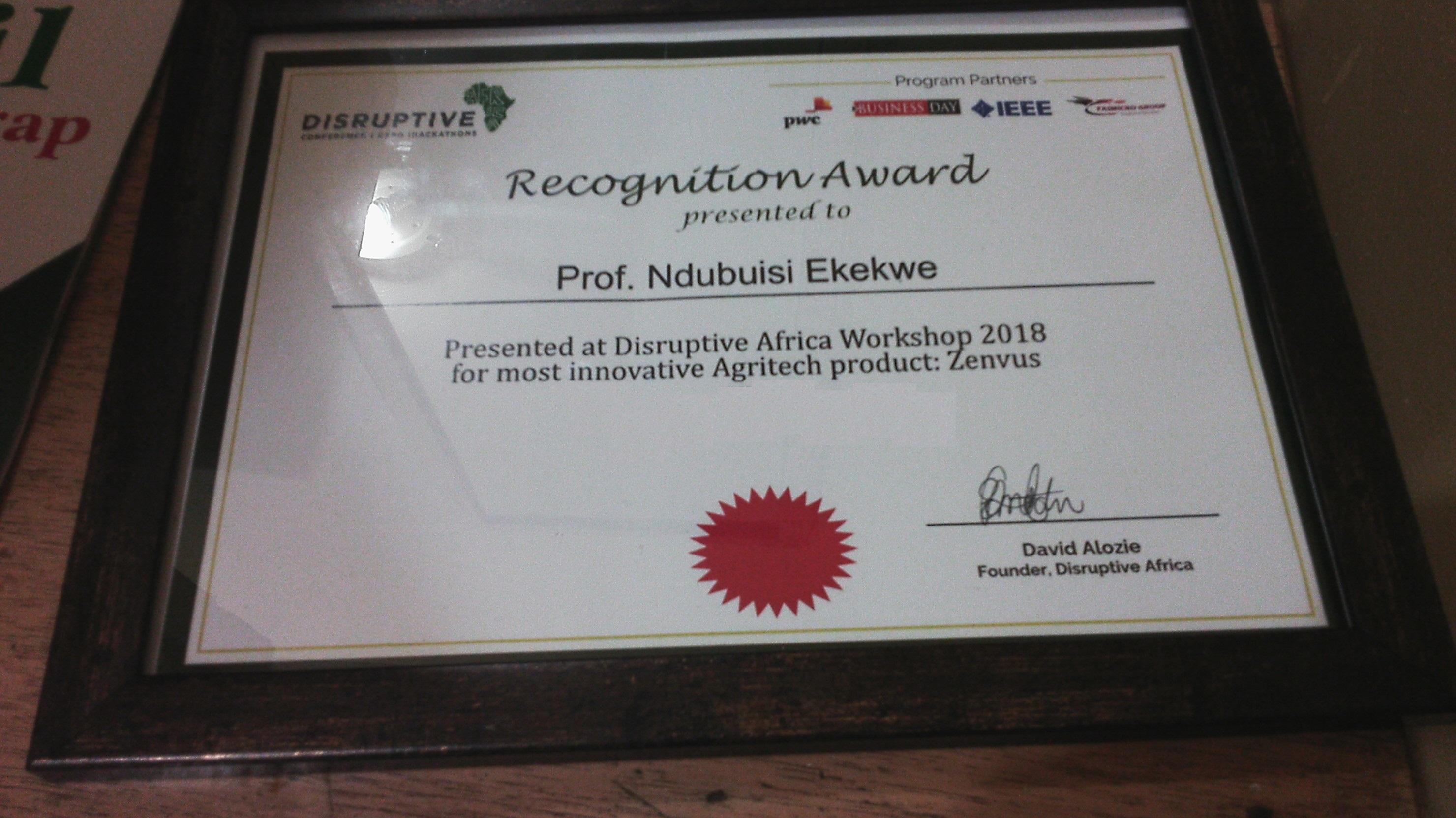 Zenvus Award DAX 2018