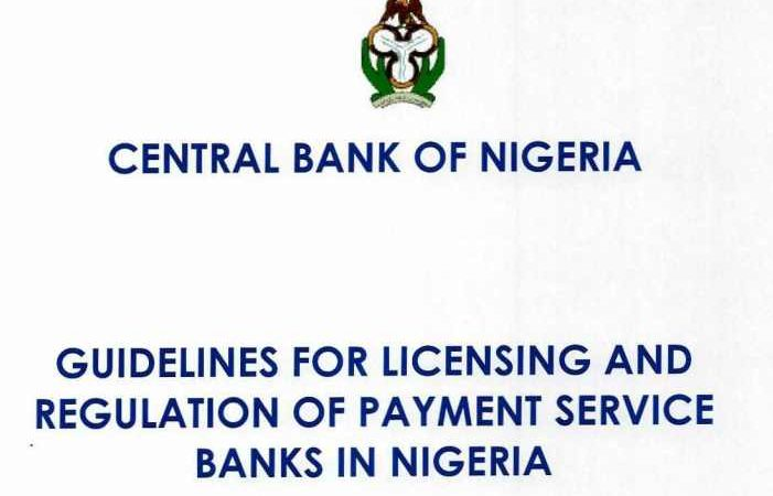 Central Bank of Nigeria (CBN) Unveils Payment Service Banks