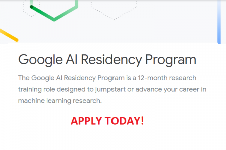 [Apply] Google AI Residency Program Accepting Applications