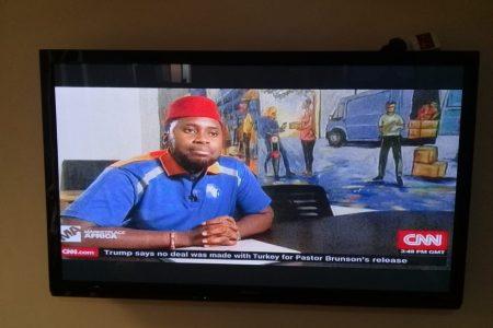Kobo360 Wears Red Cap to CNN