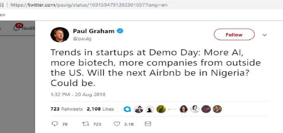 The Paul Graham Tweet