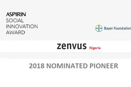 "Bayer Foundations Honours Zenvus as ""Pioneer"" in Aspirin Social Innovation Award"