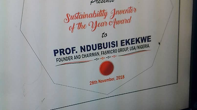 "Ndubuisi Ekekwe To Receive ""Sustainability Inventor of the Year"" Award During IN-CSR Africa"
