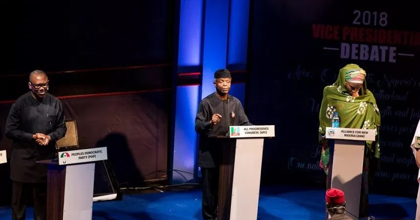 Full Video of Nigeria Vice Presidential Debate of Yesterday for 2019 Elections