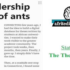 The African Universities Thesis Project