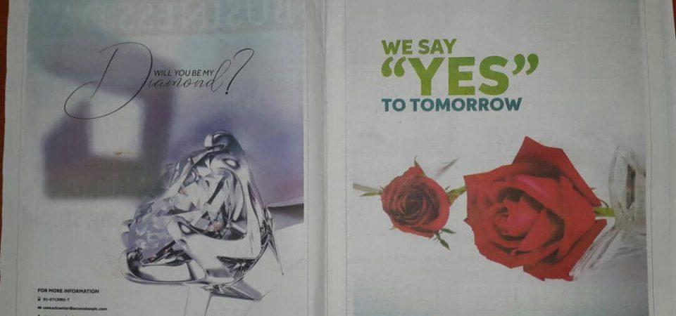"""Dear Diamond Bank, The """"YES"""""""