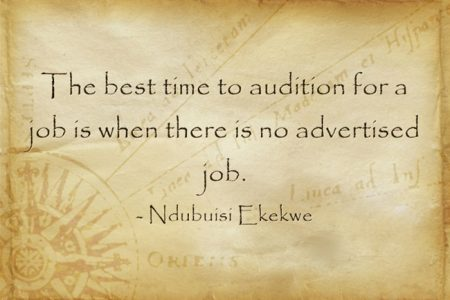 The Best Time To Audition For A Job