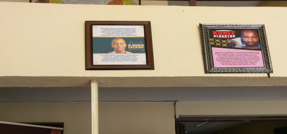 Covenant University Displays Framed Photo of Ndubuisi Ekekwe in Engineering Building